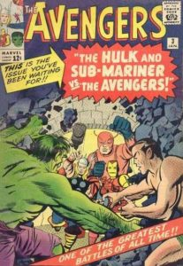 The Avengers #3 (64). Por Kirby y Reinman.