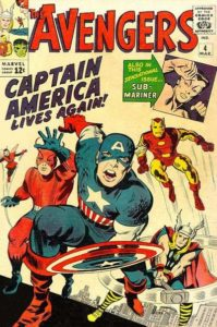 The Avengers #4 (64). Por Kirby y Reinman.