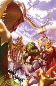 La versión de The Avengers #1 por Alex Ross.