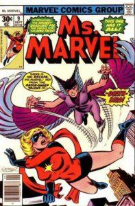 Ms. Marvel #9. Por Dave Cockrum, Joe Sinnott y Irv Watanabe.