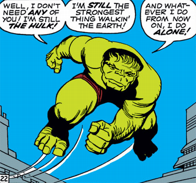 Viñeta de The Avengers #2. Por Jack Kirby.