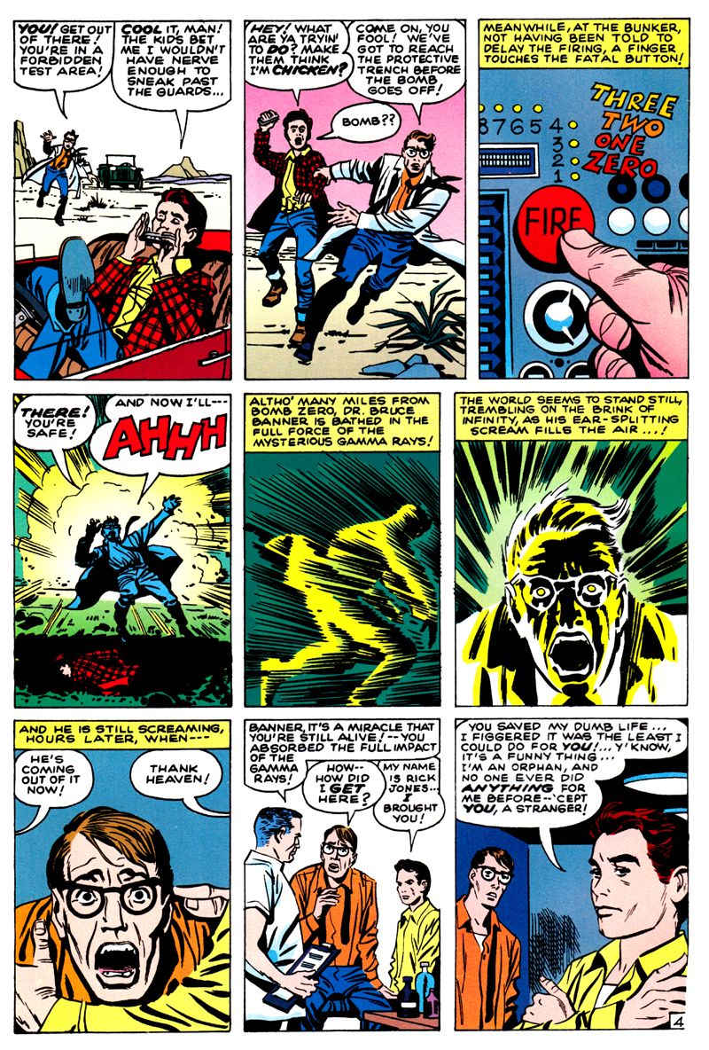 Página de The Incredible Hulk #01. Por Jack Kirby y Paul Reinman
