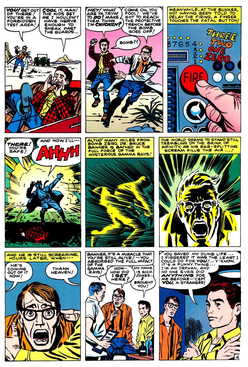 Página de The Incredible Hulk #01. Por Jack Kirby y Paul Reinman