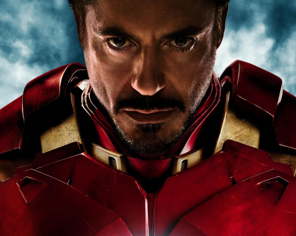 Robert Downey Jr con la armadura de Iron Man