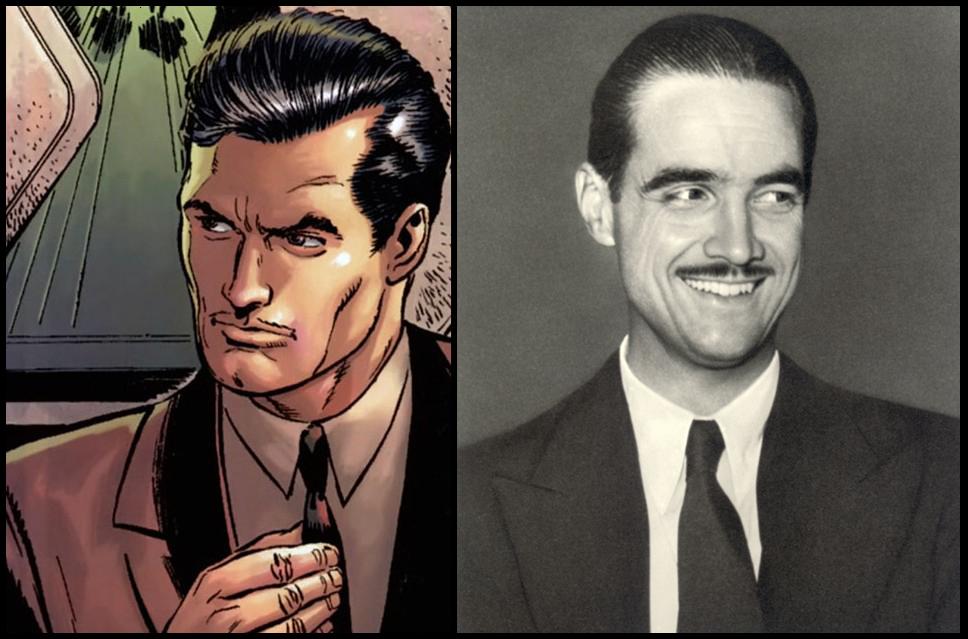 Tony Stark (Izquierda) y Howard Hughes (derecha)