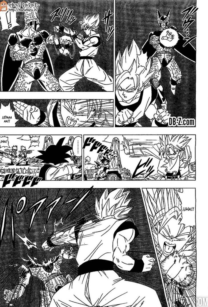 DB Super #1, manga. Goku vs Cell imaginario.