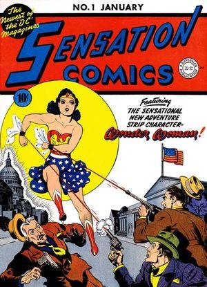 Sensation Comics #01. Por Jon L. Blummer.