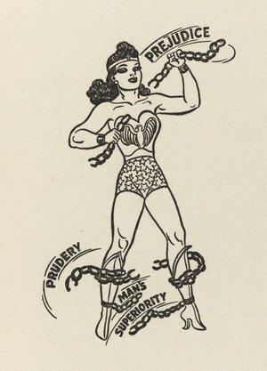 Wonder Woman de Harry G. Peter. Aparecida en un artículo de Marston.