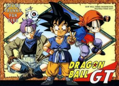 Imagen promocional de DBGT, por Akira Toriyama