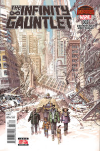 The Infinity Gauntlet Vol 2 #3. Por Dustin Weaver.