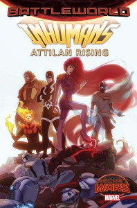 Portada de Inhumans: Attilan Rising #1. Por W. Scott Forbes.