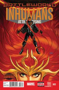 Portada de Inhumans: Attilan Rising #3. Por Dave Johnson.