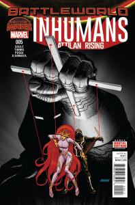 Portada de Inhumans: Attilan Rising #5. Por Dave Johnson.