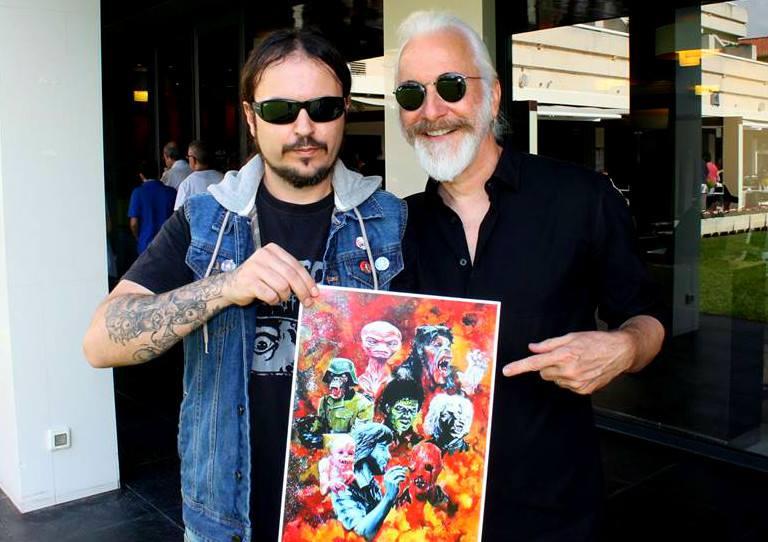 Victor J. Matínez con Rick Baker