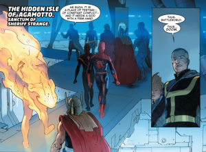 Viñeta de Secret Wars #4. Por Esad Ribic.