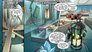 Viñetas de Squadron Sinister #1. Por Carlos Pacheco.