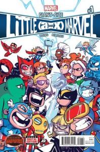 Giant-Size Little Marvel A Vs. X #1. Por Skottie Young.