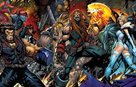 Portadas de Age of Apocalypse Vol. 2 #1-#5 unidas. Por Sandoval y Gatefold.