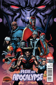 Portada alternativa de Age of Apocalypse Vol 2 #1 Por Clarke.