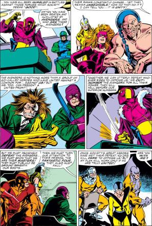 Página de The Avengers #273 (86). Por John Buscema.
