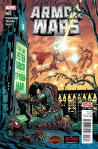 Secret Wars: Armor Wars #3. Por Paul Rivoche y Jordan Boyd.