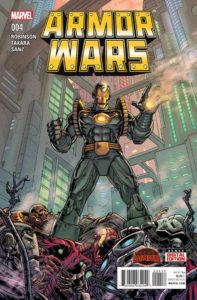 Secret Wars: Armor Wars #4. Por Paul Rivoche y Jordan Boyd.