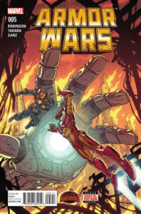 Secret Wars: Armor Wars #5. Por Paul Rivoche y Jordan Boyd.