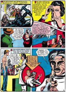 Página 4 de Captain America Comics #1 (1941). Por Simon y Kirby.