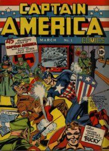 Captain America Comics #1. Por Joe Simon y Jack Kirby.
