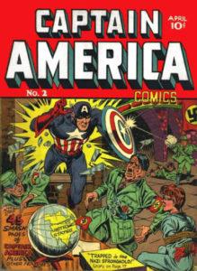 Captain America Comics #2. Por Joe Simon y Jack Kirby.