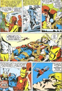 Página de The Avengers #4 (1964). Por Jack Kirby.