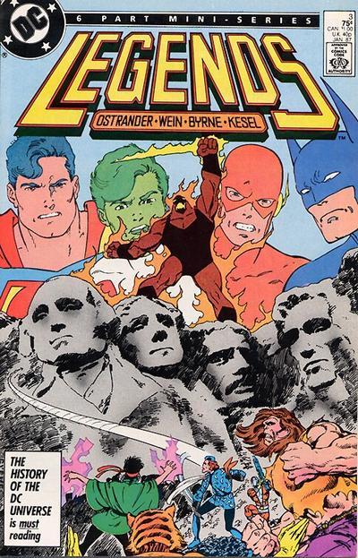 Portada de Legends #3 (1987). Por John Byrne.