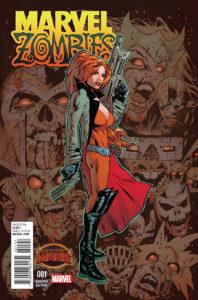 Portada alternativa de Marvel Zombies Vol.2 #1 (05). Por Greg Land.