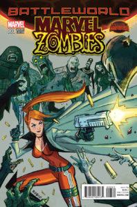 Portada alternativa de Marvel Zombies Vol.2 #3. Por Rubio.