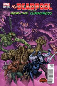 Portada alternativa de Mrs.Deadpool and the howling commandos #1. Por Bradshaw.