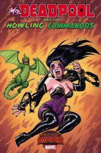 Portada alternativa de Mrs.Deadpool and the howling commandos #1. Por Warren.