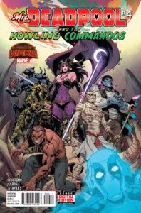 Portada de Mrs.Deadpool and the howling commandos #4. Por Reilly Brown y Jim Charalampidis.