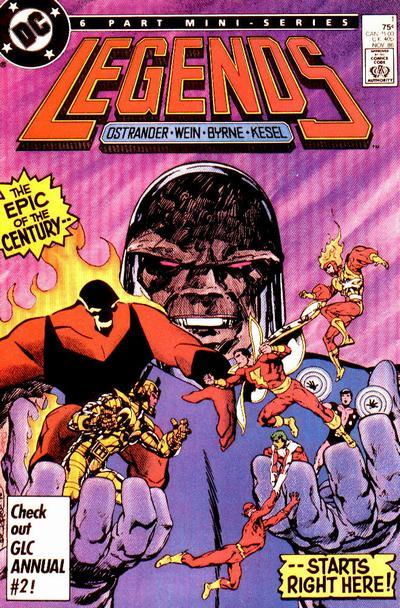 Legends #1 (86). Por John Byrne.