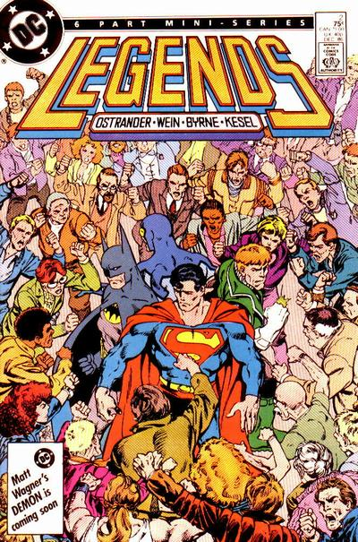 Legends #2 (86). Por John Byrne.