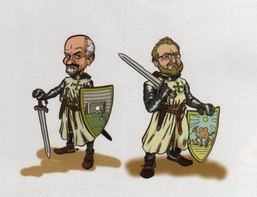 Caricatura de los autores