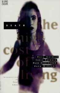 "Portada del recopilatorio ""Death: The High Cost of Living (1993)"". Por Dave McKean."