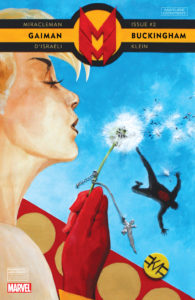 Portada de Miracleman by Gaiman & Buckingham #2. Por Mark Buckingham.