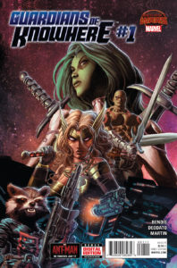 Portada de Guardians of Knowhere #1 (15). Por Mike Deodato Jr. y Frank Martin.