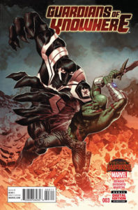 Portada de Guardians of Knowhere #3 (15). Por Mike Deodato Jr. y Frank Martin.