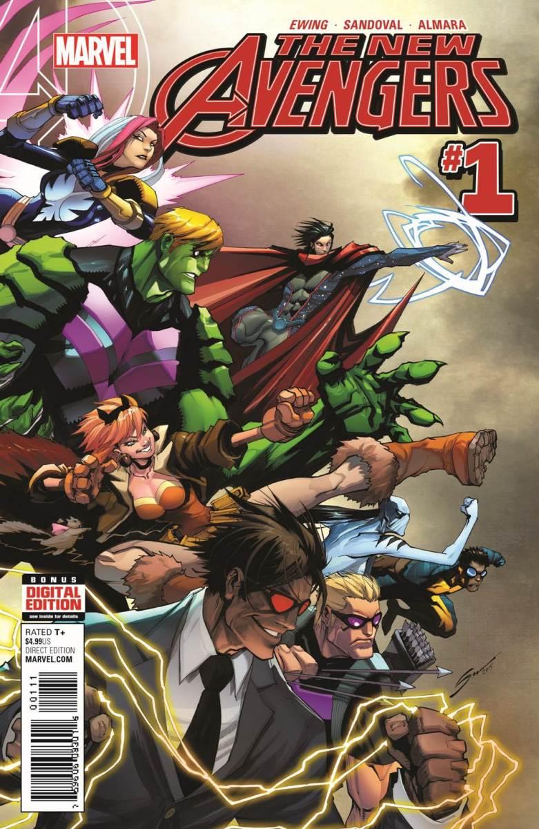 The New Avengers Vol 4 #1. Por Gerardo Sandoval.