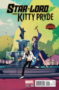 Portada alternativa de Star-Lord and Kitty Pryde #2. Por Wu.