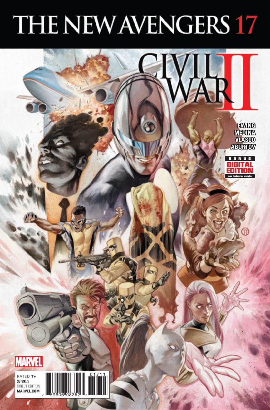 The New Avengers Vol 4 #17. Por Julian Totino Tedesco.