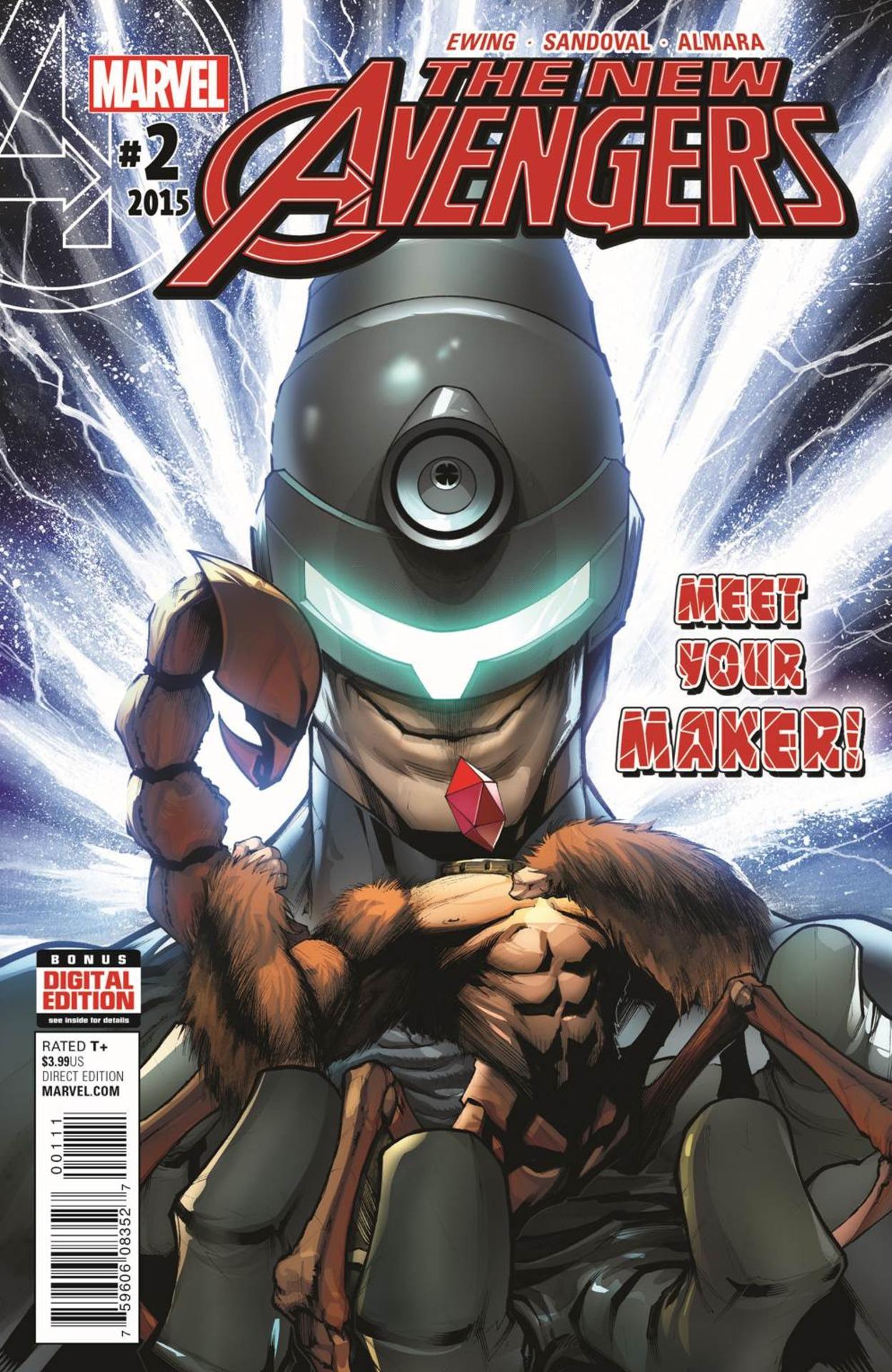The New Avengers Vol 4 #2. Por Gerardo Sandoval.