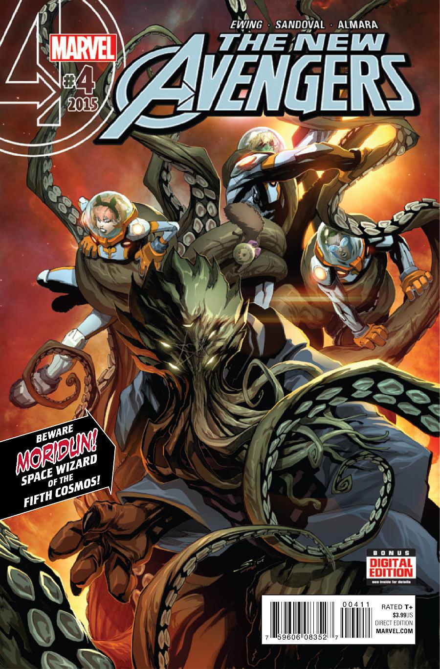The New Avengers Vol 4 #4. Por Gerardo Sandoval y Dono Sanchez Almara.