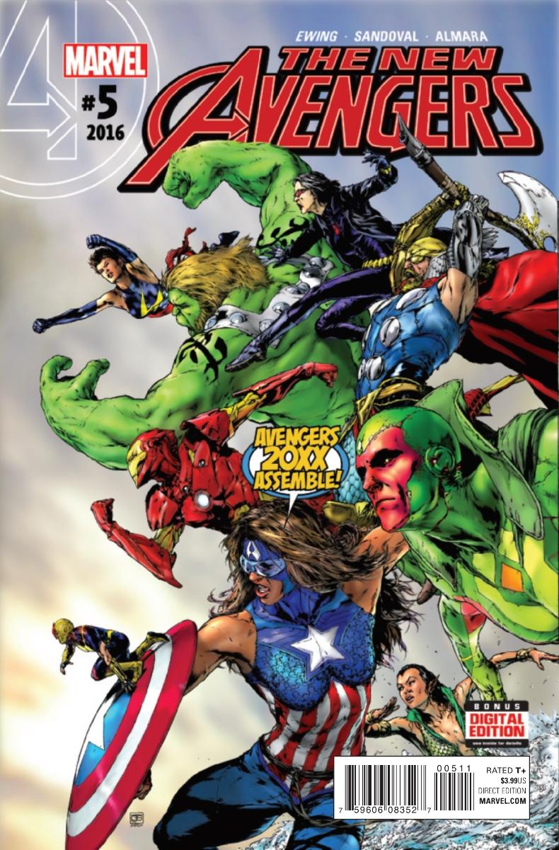 The New Avengers Vol 4 #5. Por Oscar Jiménez.